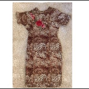 LOVE-MOOD•Leopard Rose Dress